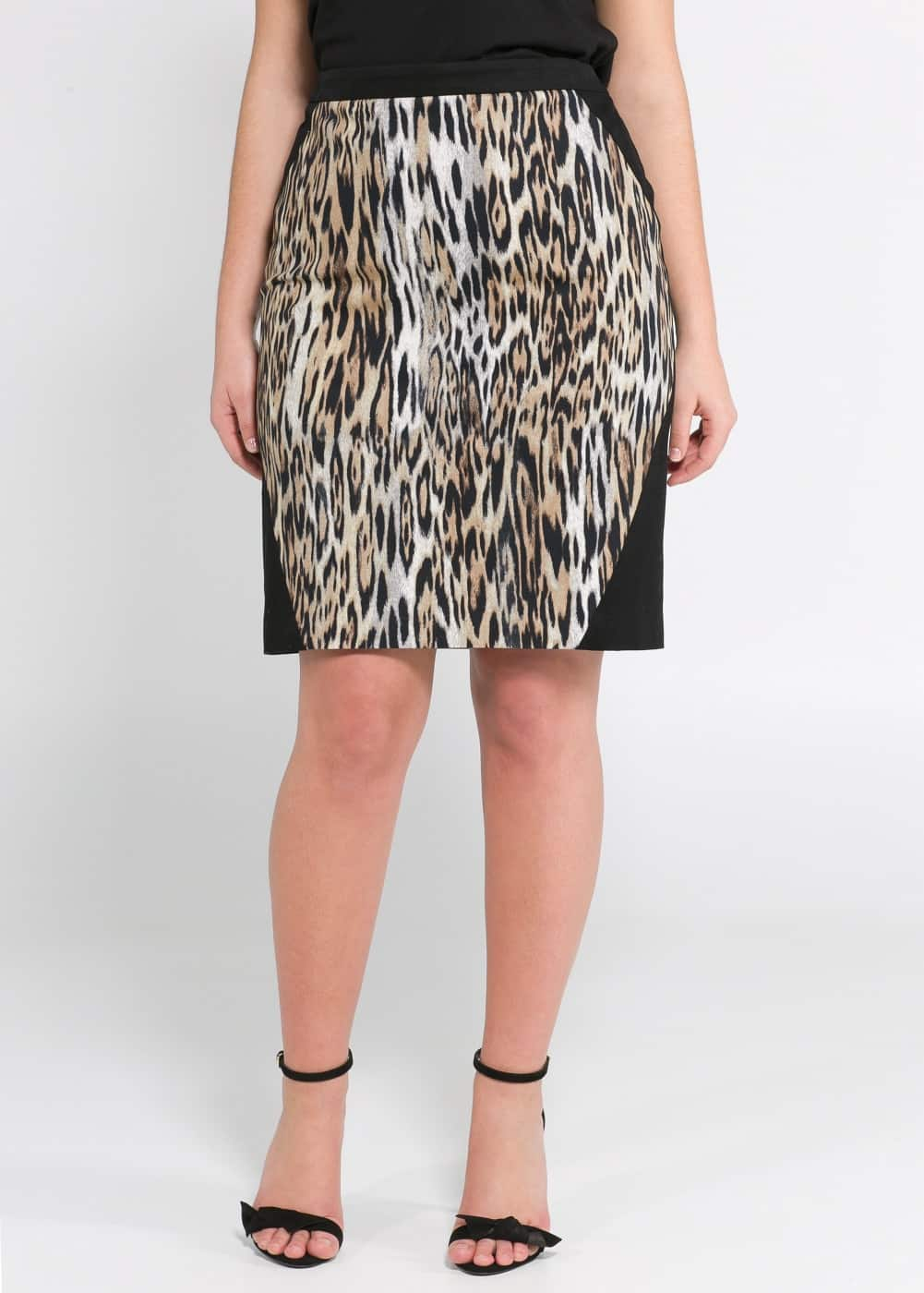 Leopard panel skirt | MANGO