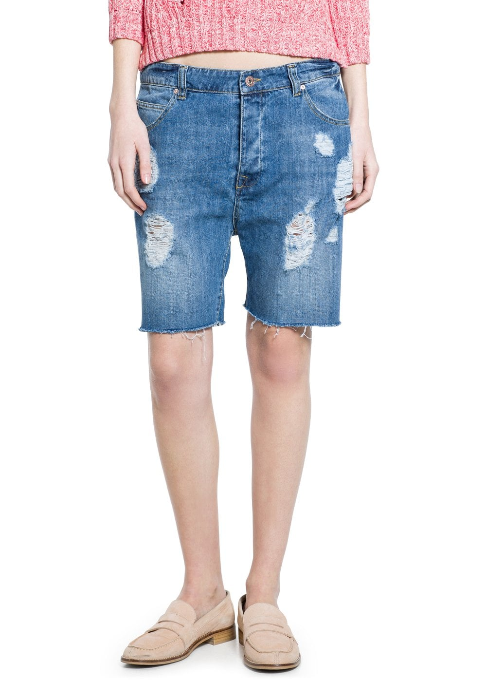 Denim bermuda shorts | VIOLETA BY MANGO