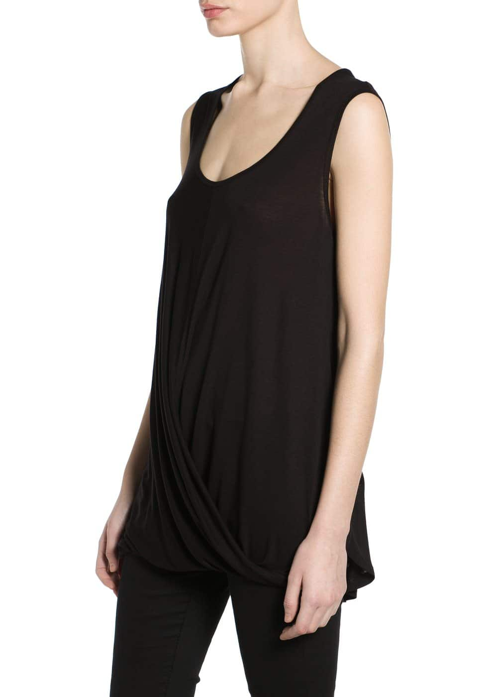 Draped wrap t-shirt | MANGO