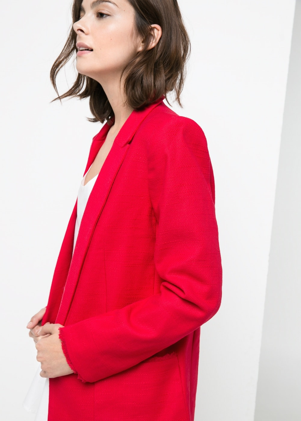 Frayed edge blazer | MANGO