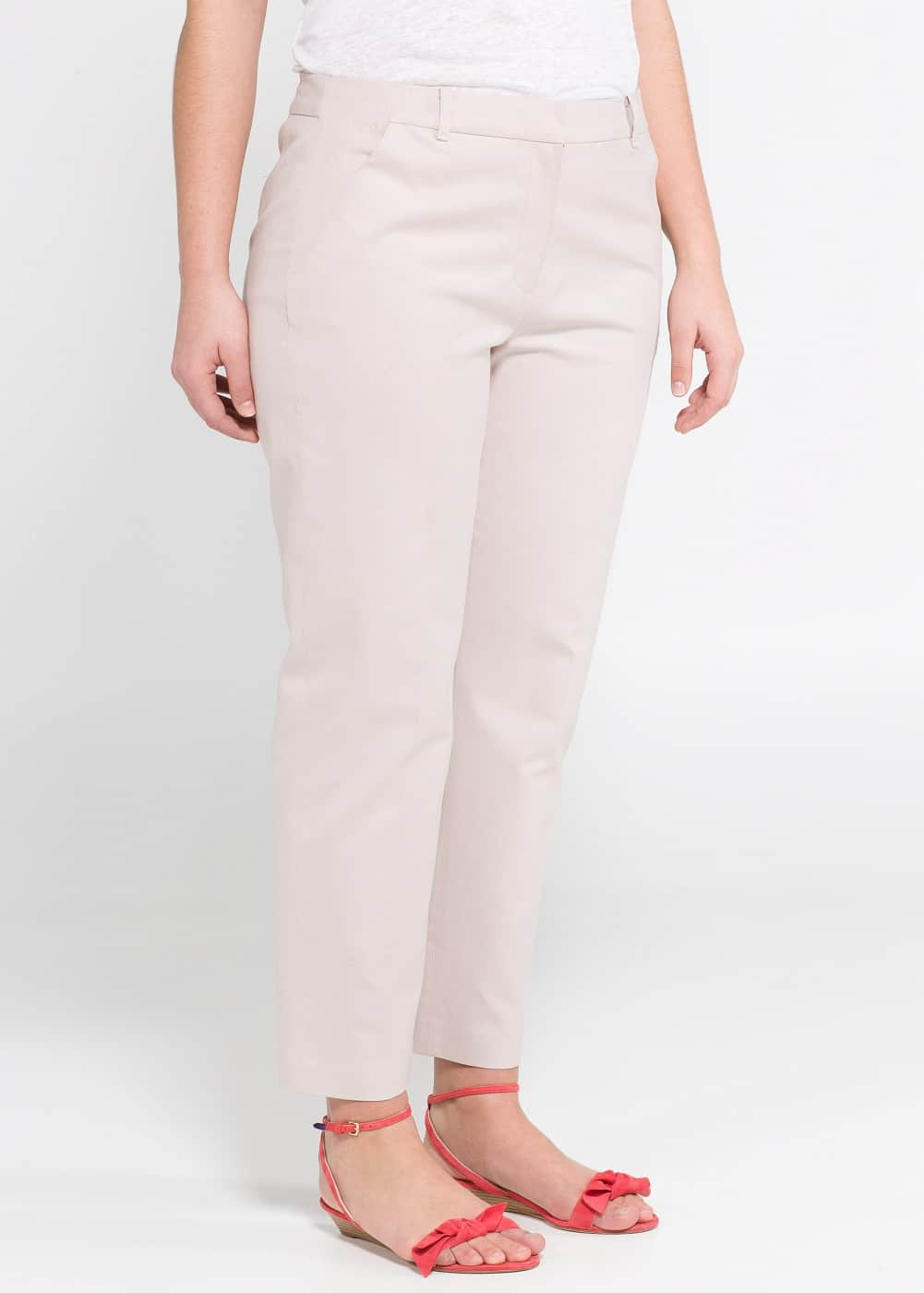 Linen cotton-blend trousers | MANGO