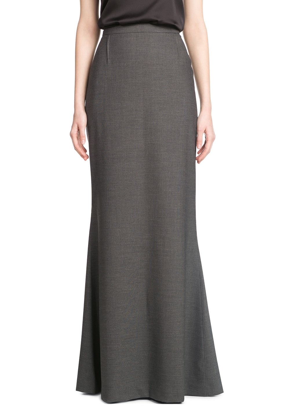 Evasé long skirt | MANGO