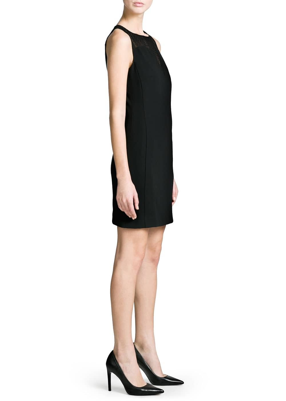 Vestido panel lunares flocked | MANGO