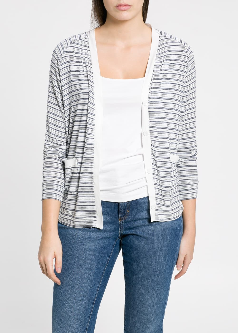 Striped jacket | MANGO