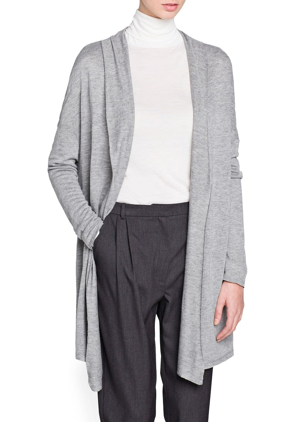 Waterfall lightweight cardigan | MANGO MAN
