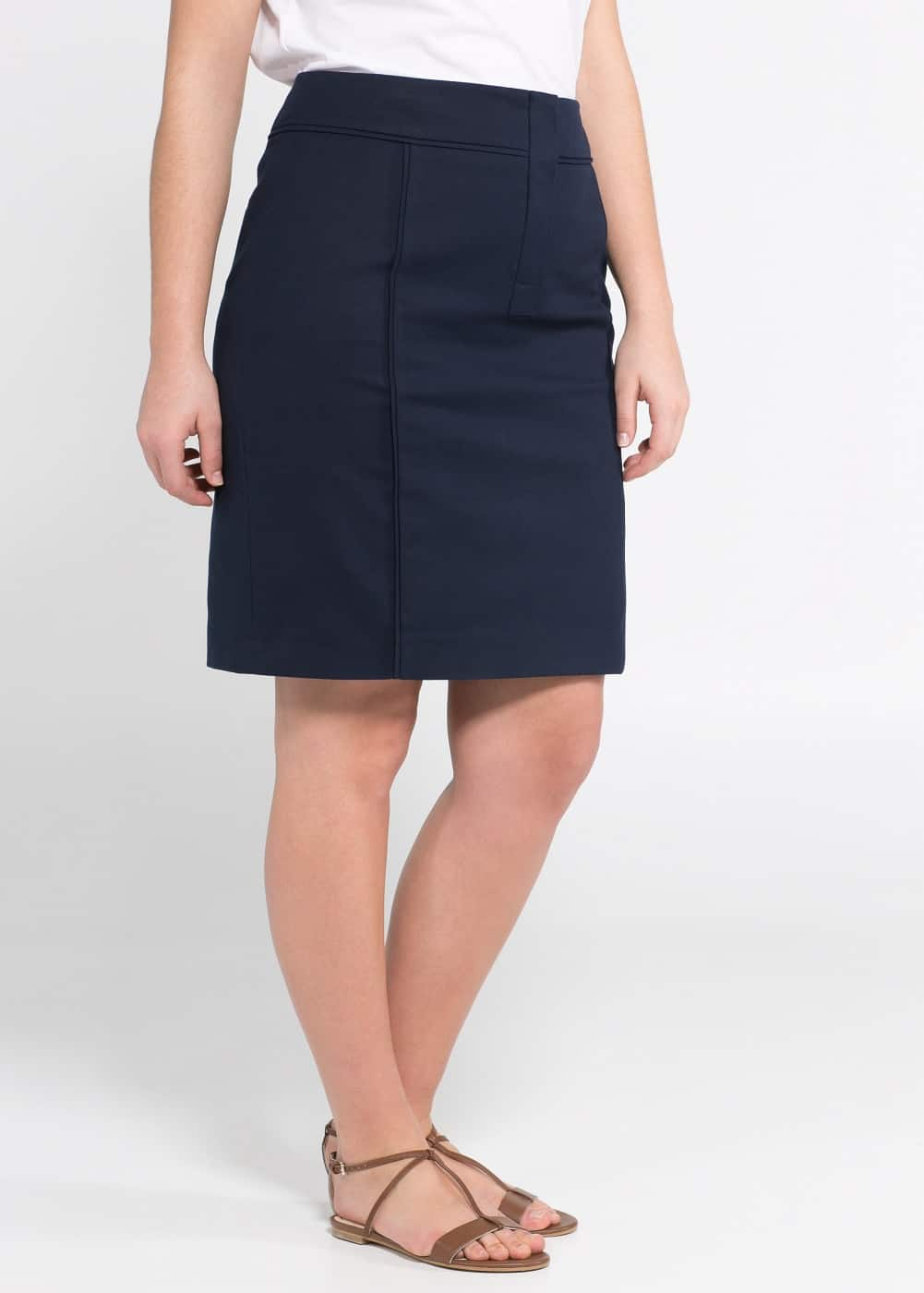 Fitted cotton skirt | VIOLETA BY MANGO