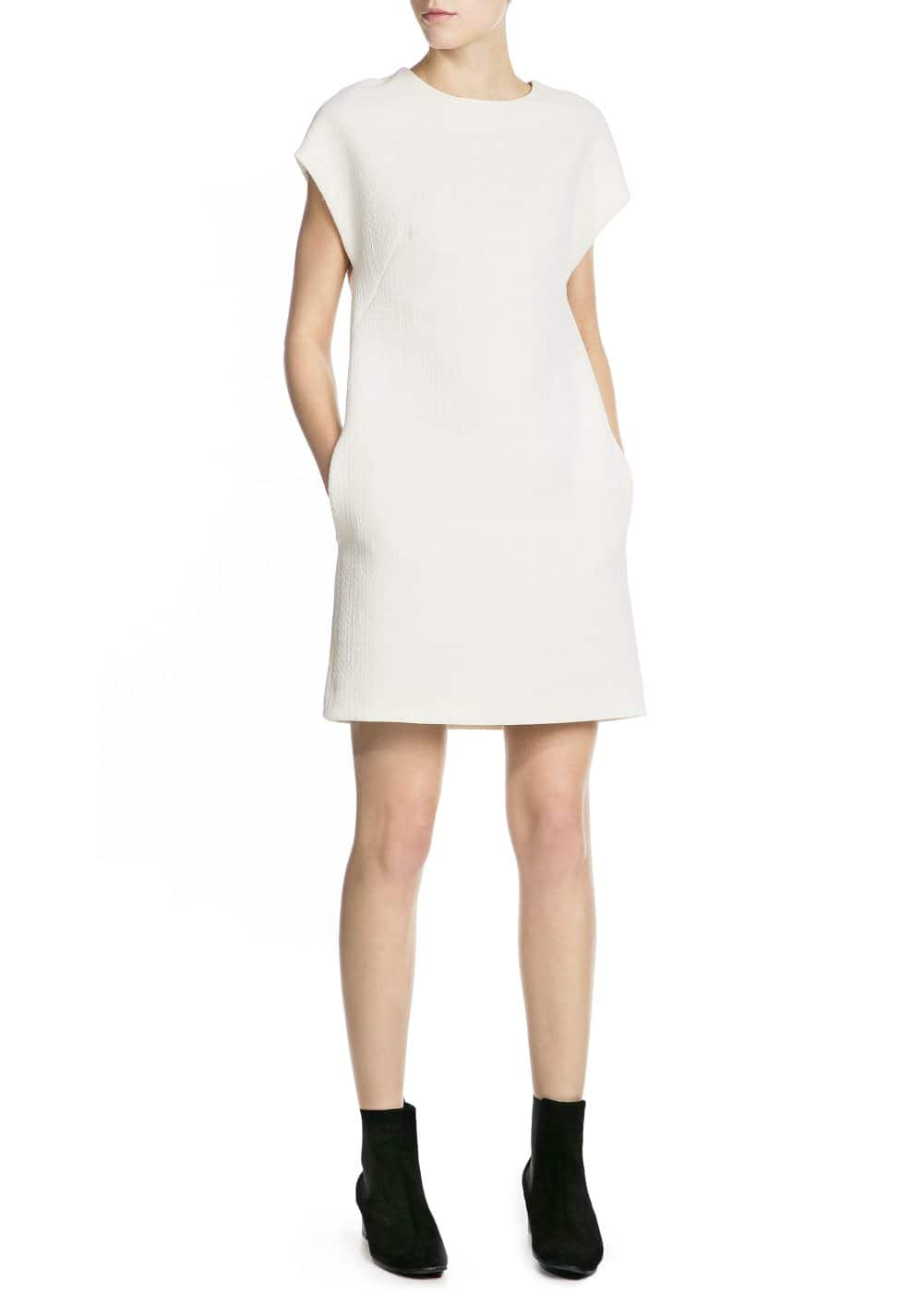 Premium - textured dress | MANGO