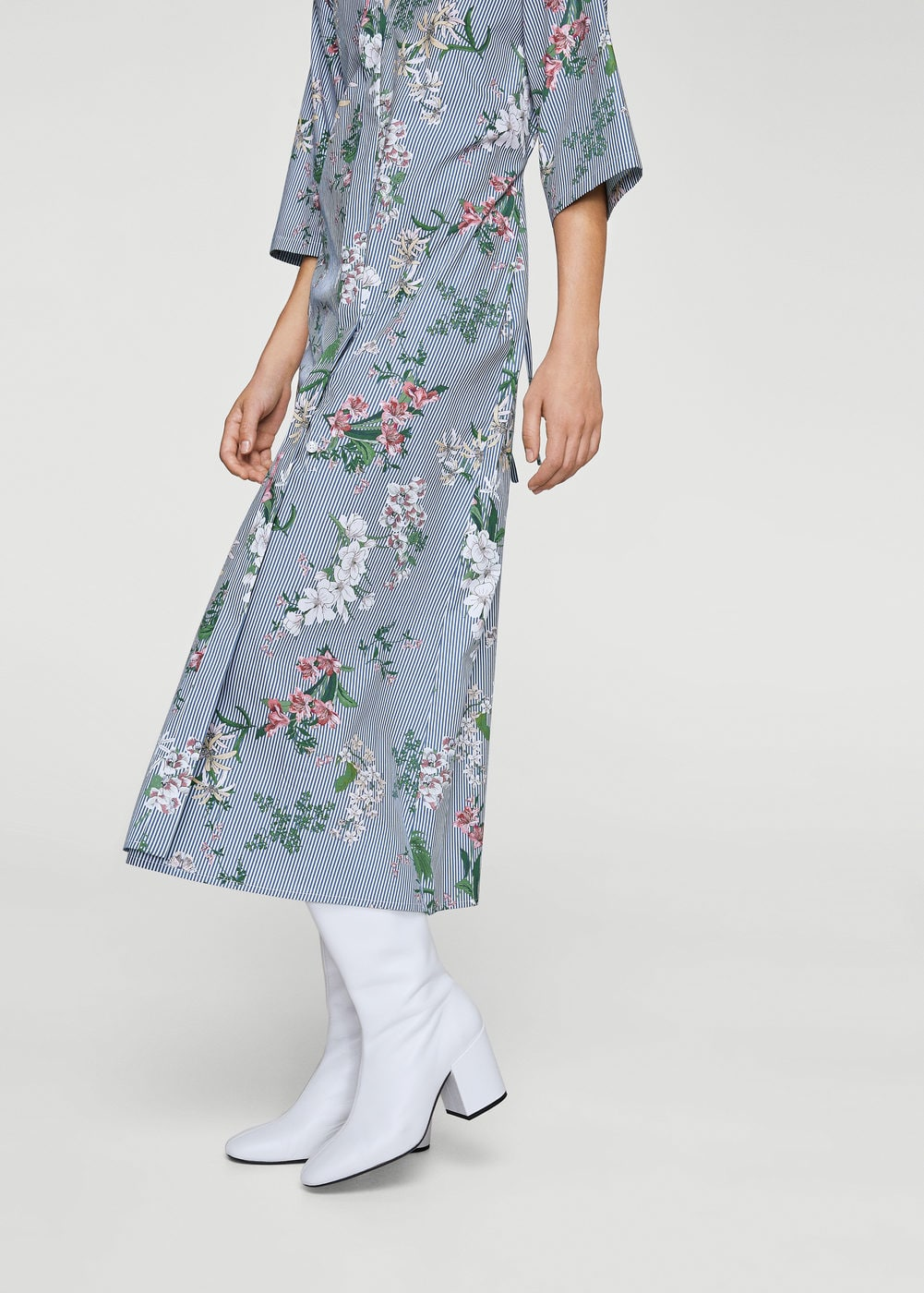 Floral shirt dress | MANGO
