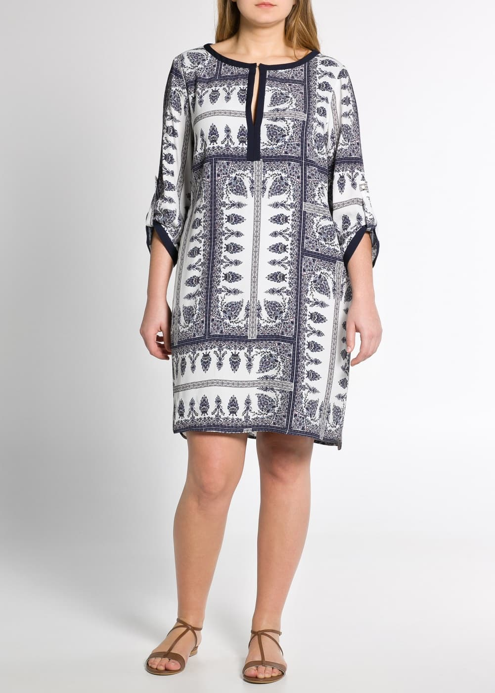 Folk print dress | MANGO