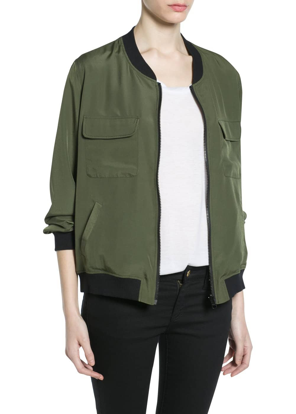 Reversible bomber jacket | MANGO