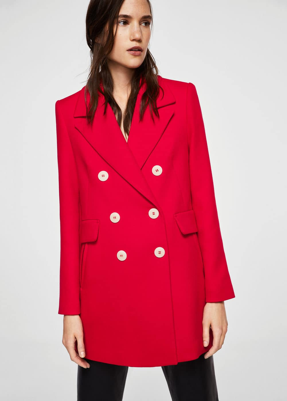 Contrast buttons coat  | MNG