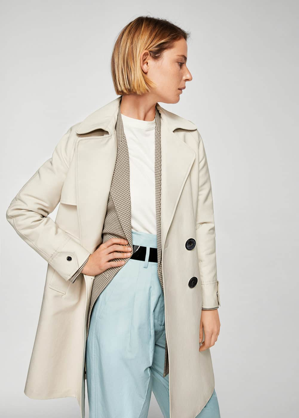Trench doble botonadura | MANGO