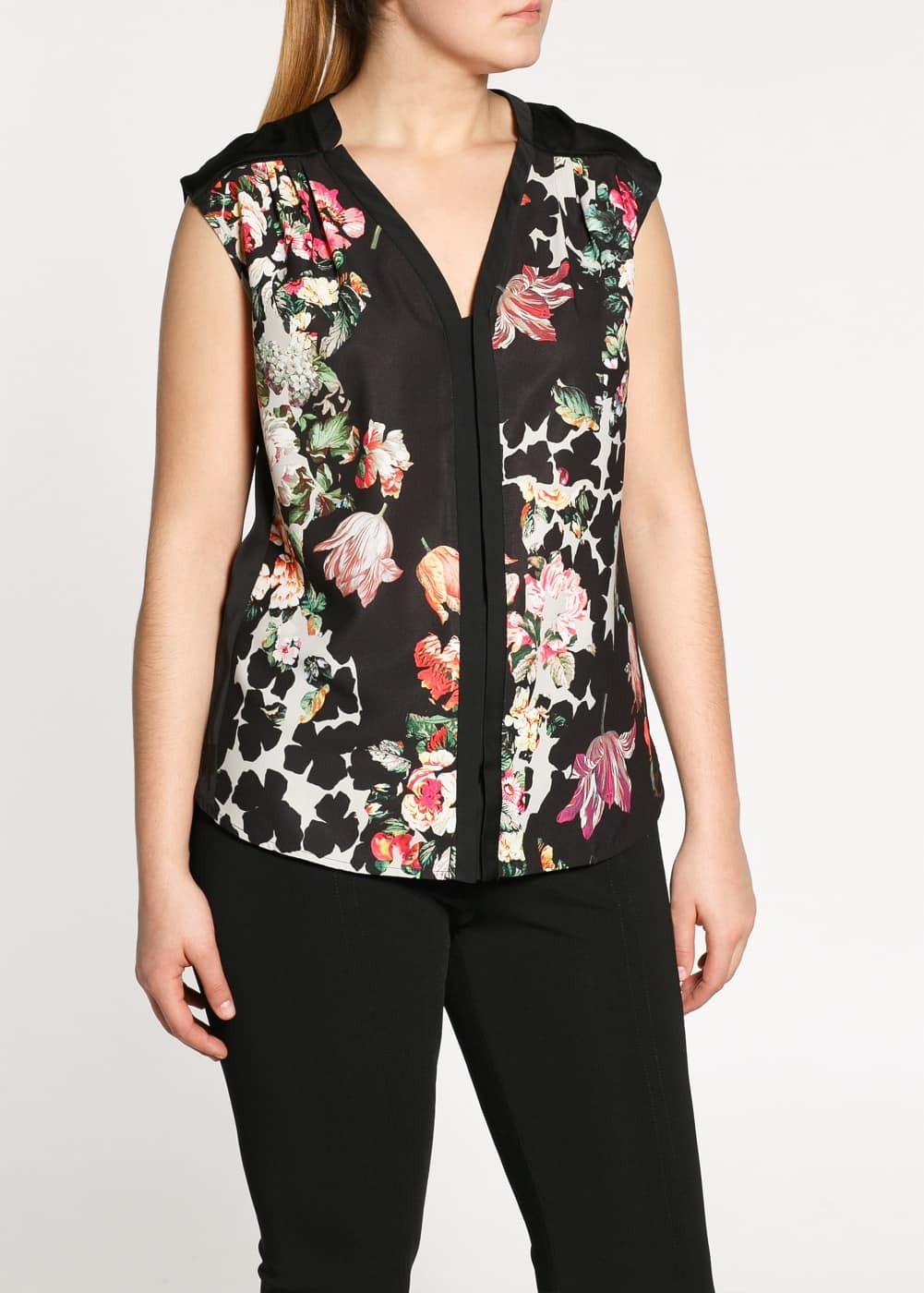 Flower print blouse | MANGO