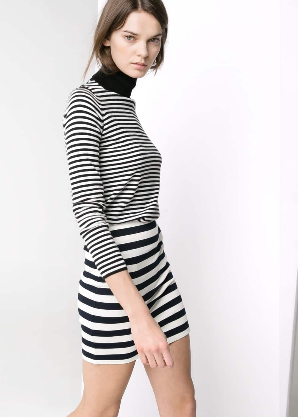 Striped jersey skirt | MANGO