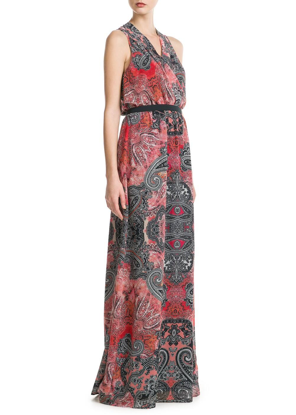 Paisley long dress | MANGO
