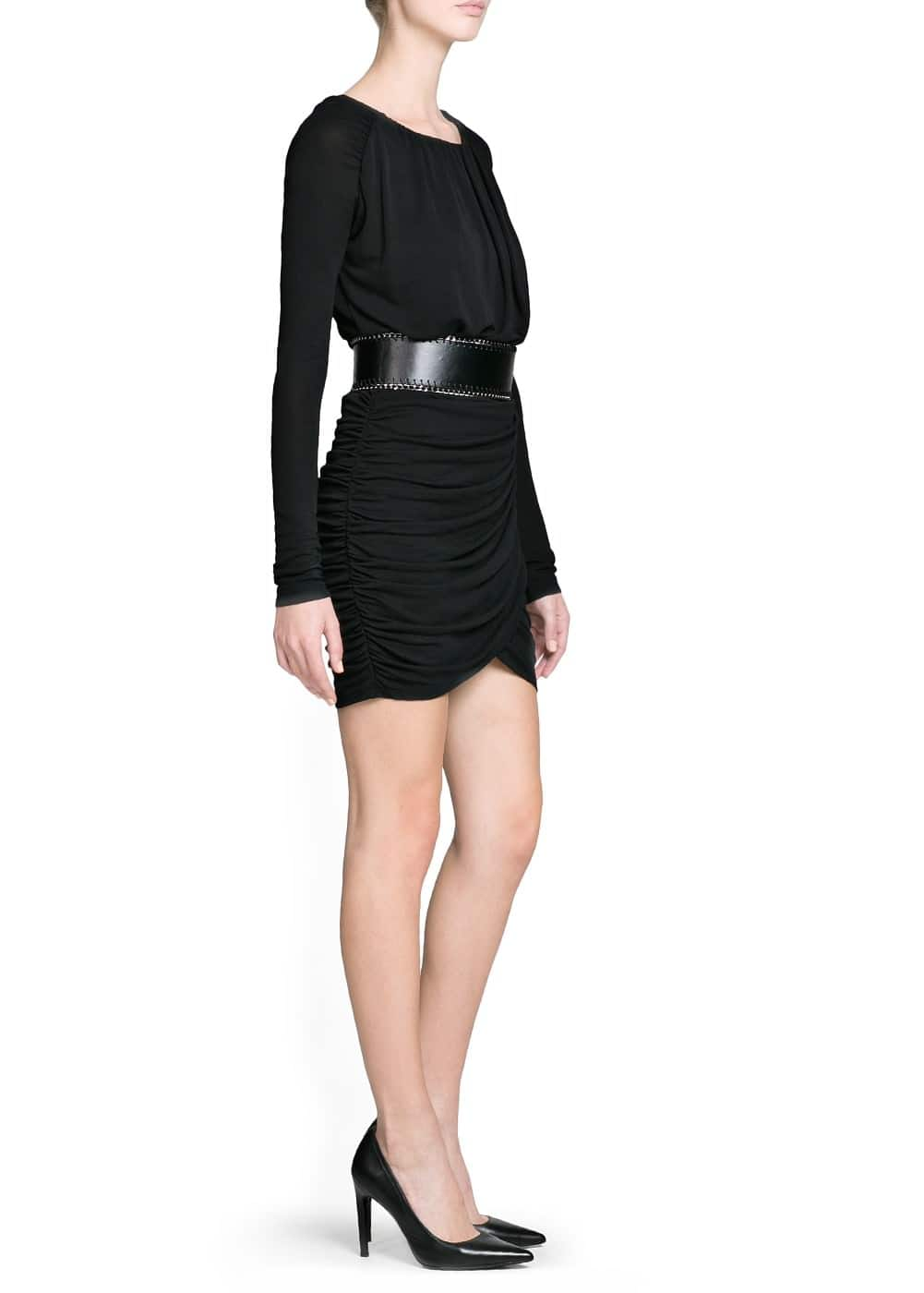 Belted draped dress | MANGO