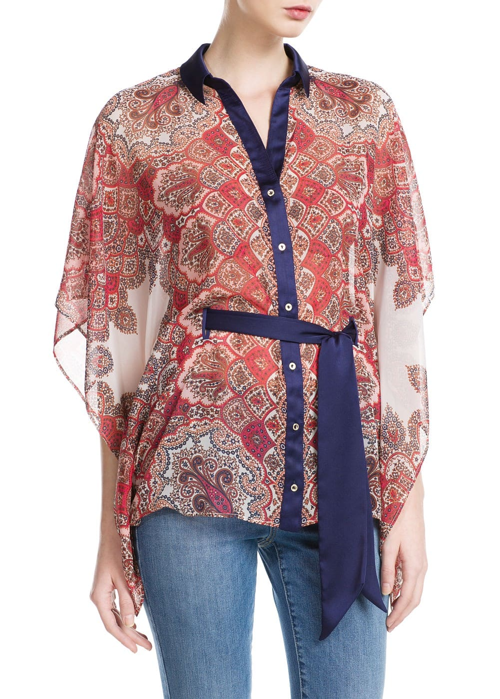 Butterfly sleeve blouse | MANGO