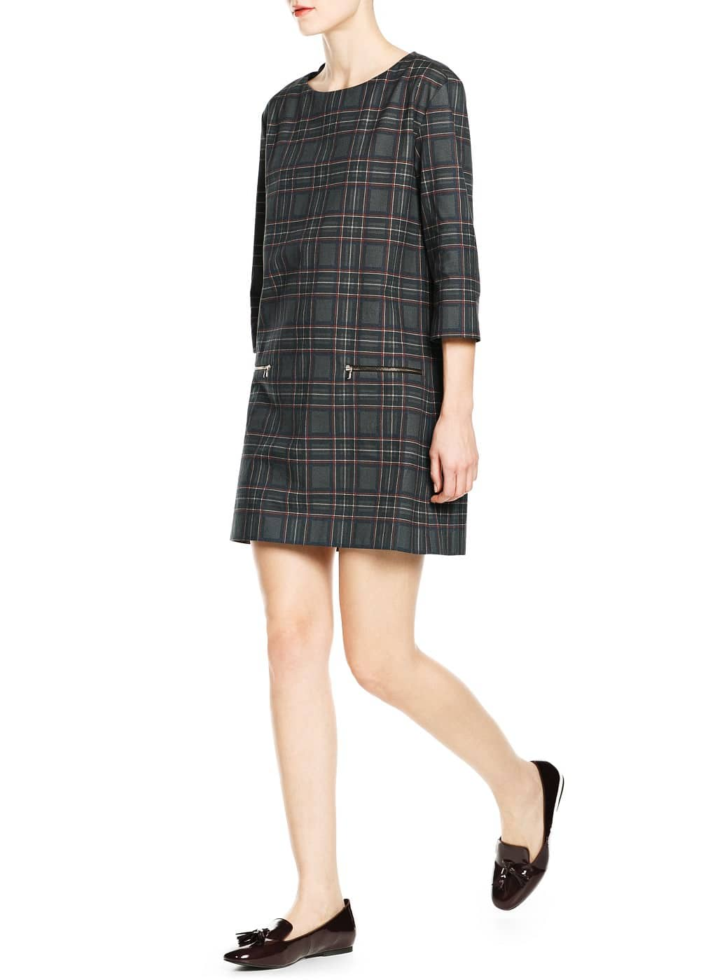 College style shift dress | MANGO