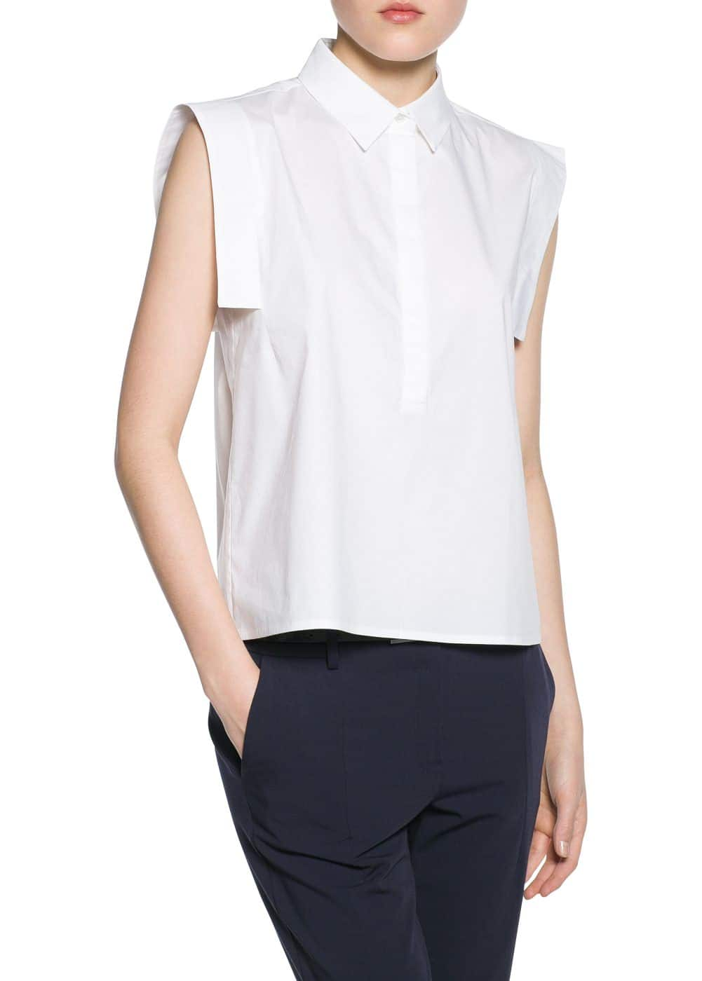 Shirt collar blouse | MANGO