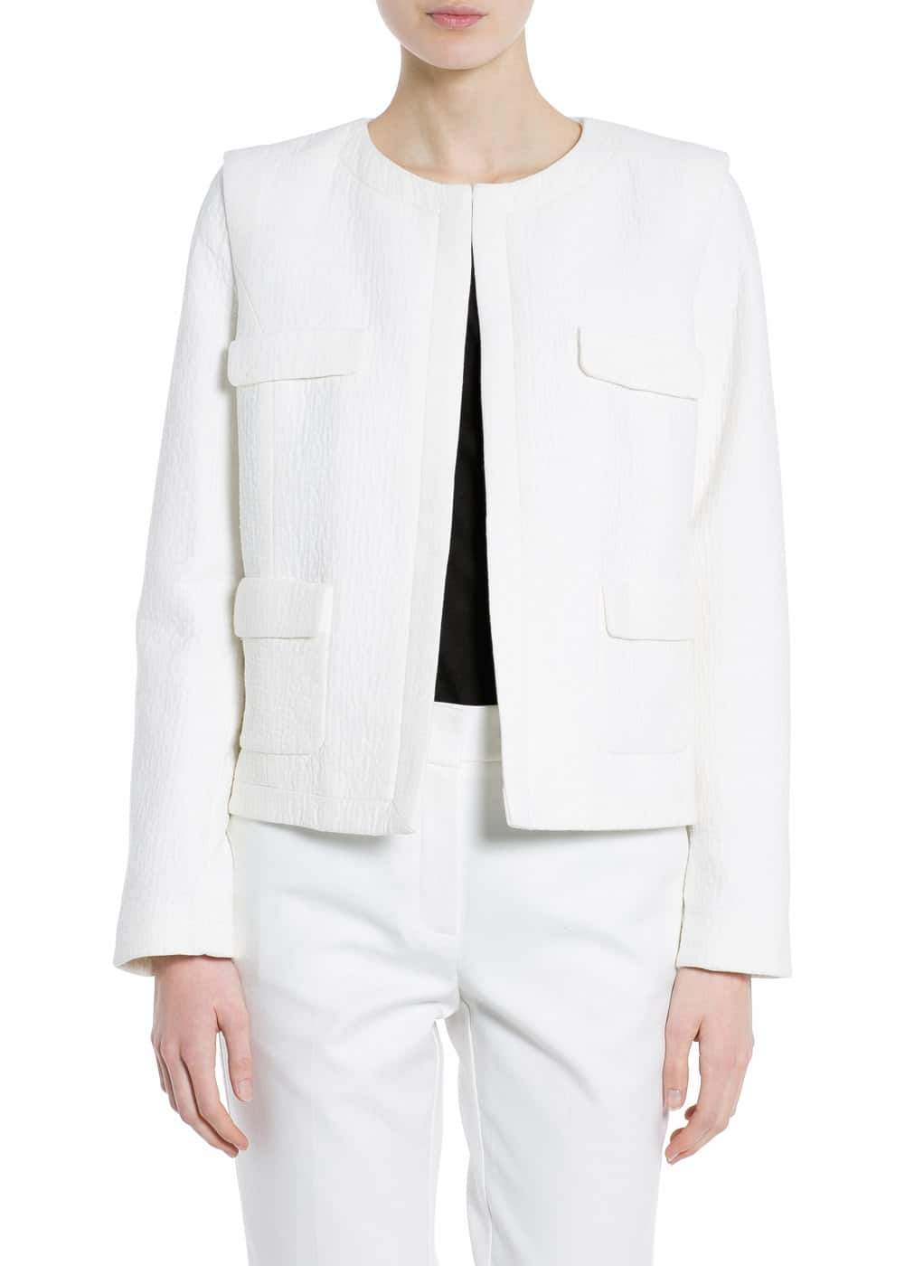 Pocket textured jacket | MANGO