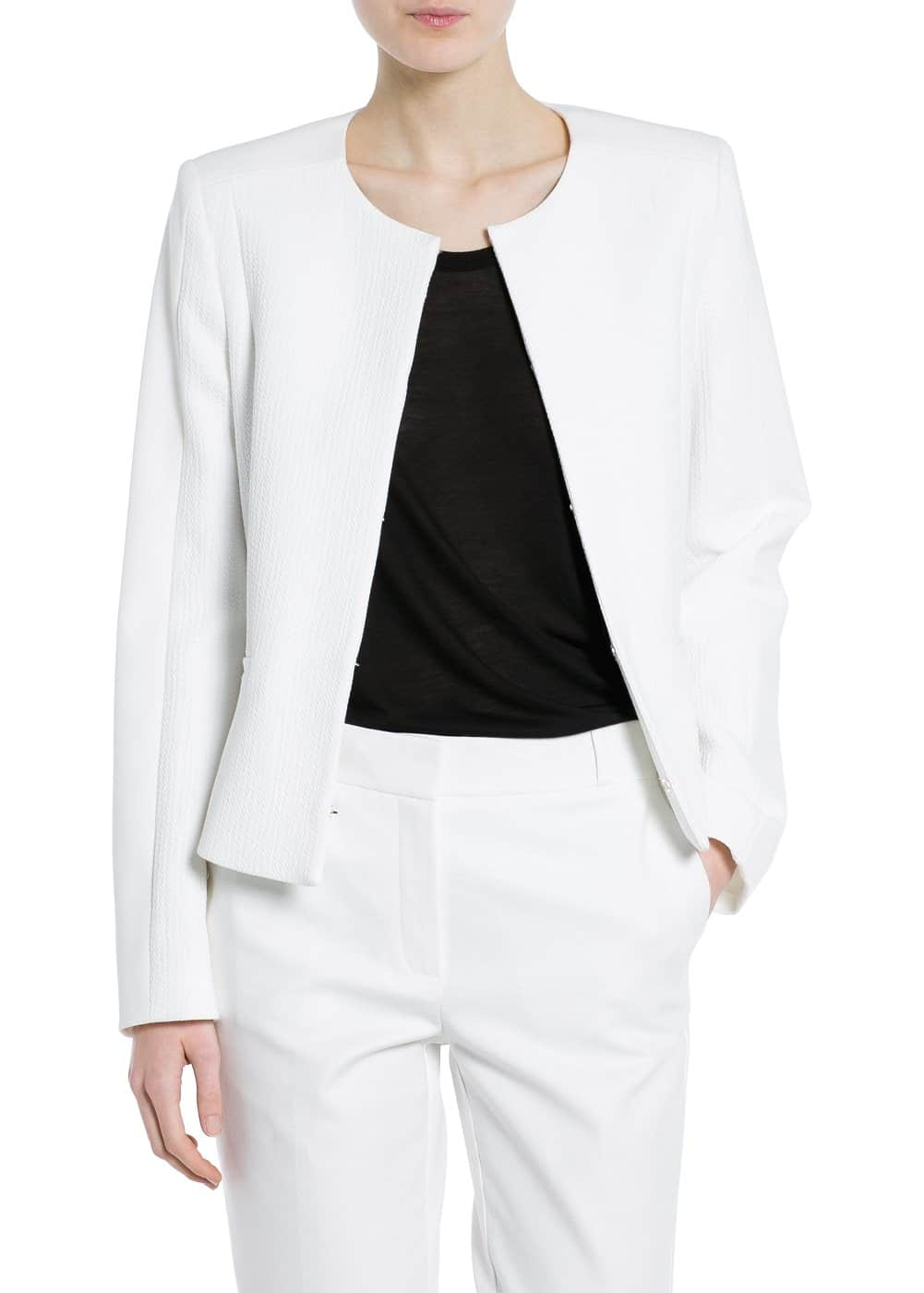Panel textured jacket | MANGO
