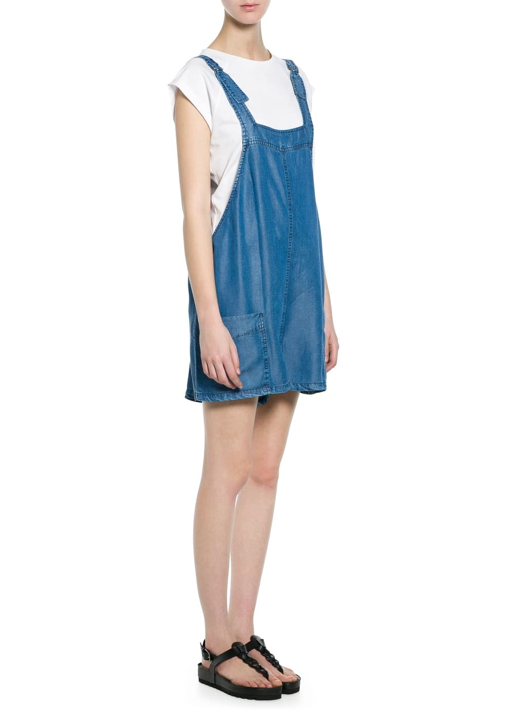 Soft fabric short dungarees | MANGO