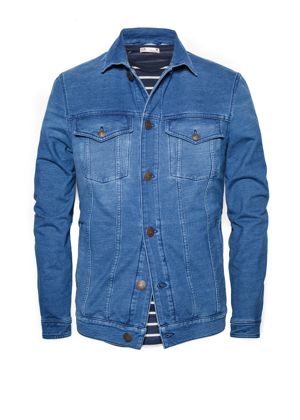 Denim-effect jersey jacket | MANGO
