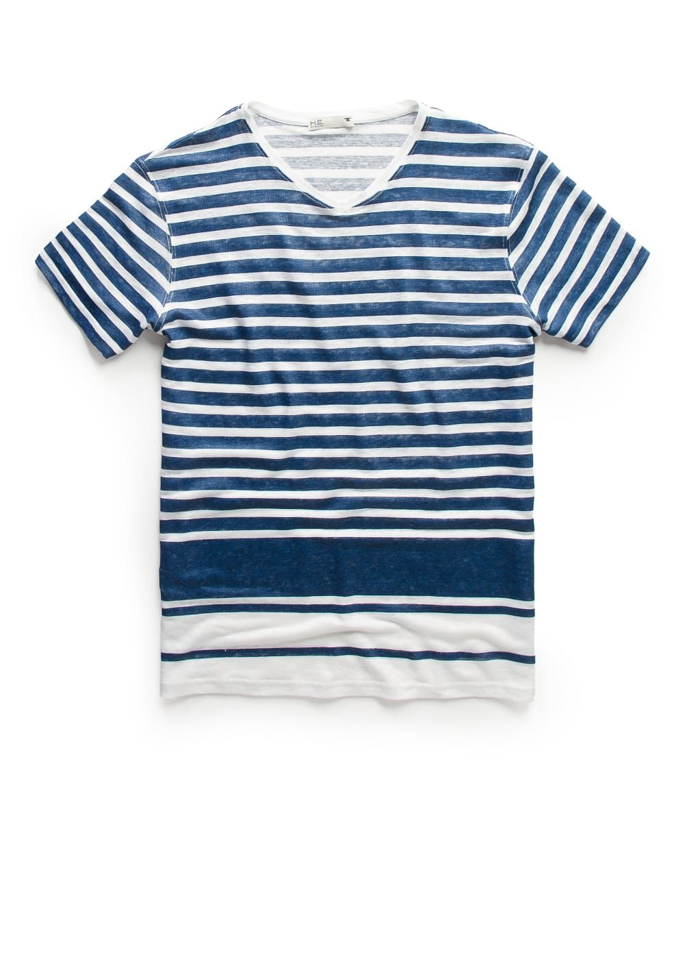 Striped linen t-shirt | MANGO KIDS