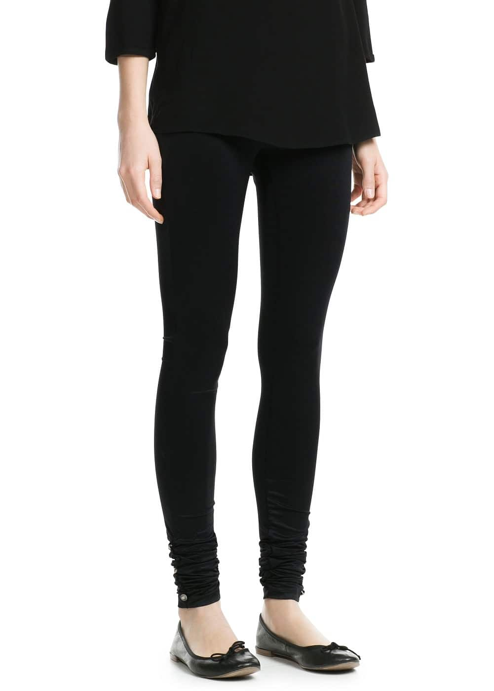 Ruched detail leggings | MANGO