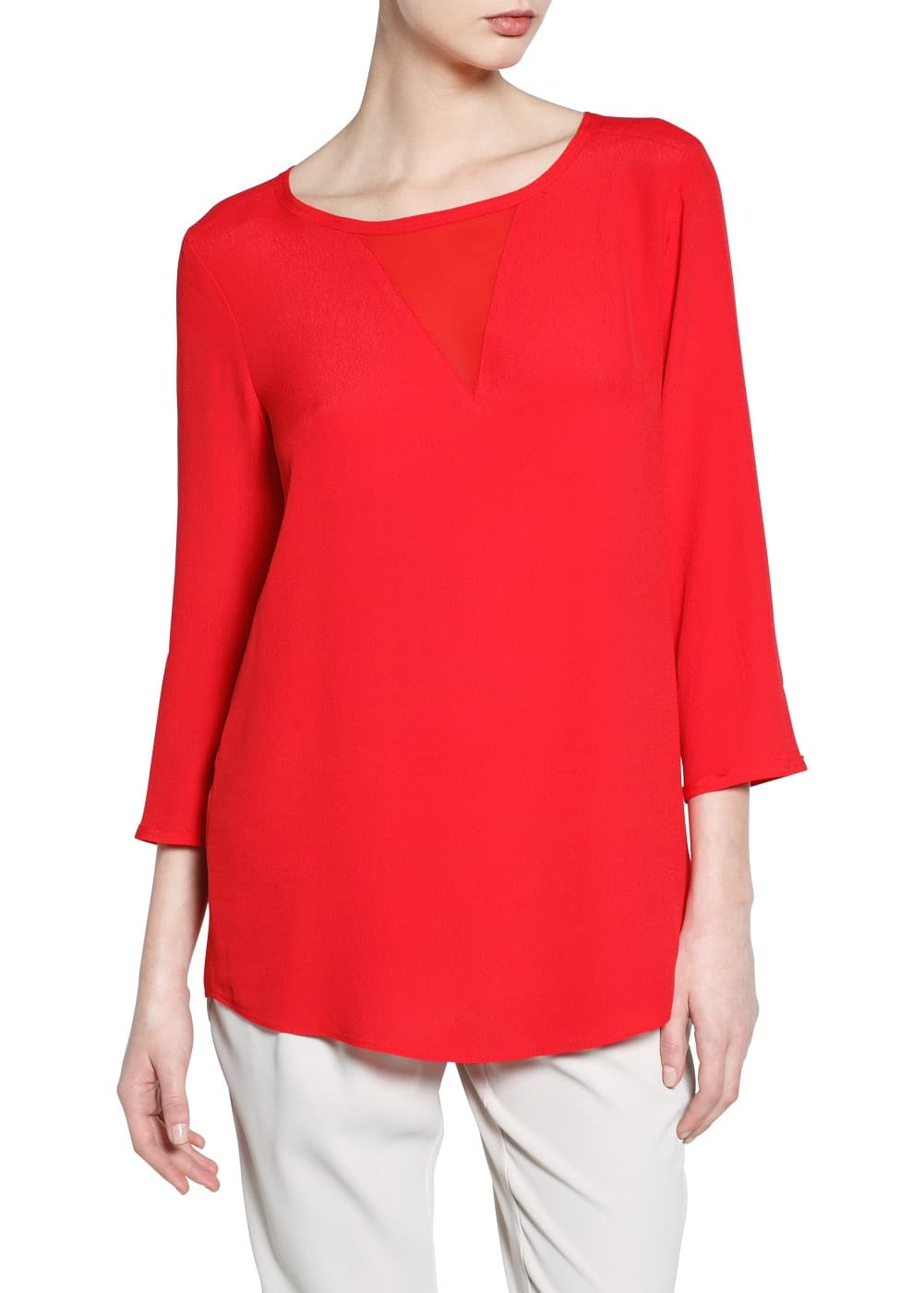 Chiffon panel blouse | MANGO