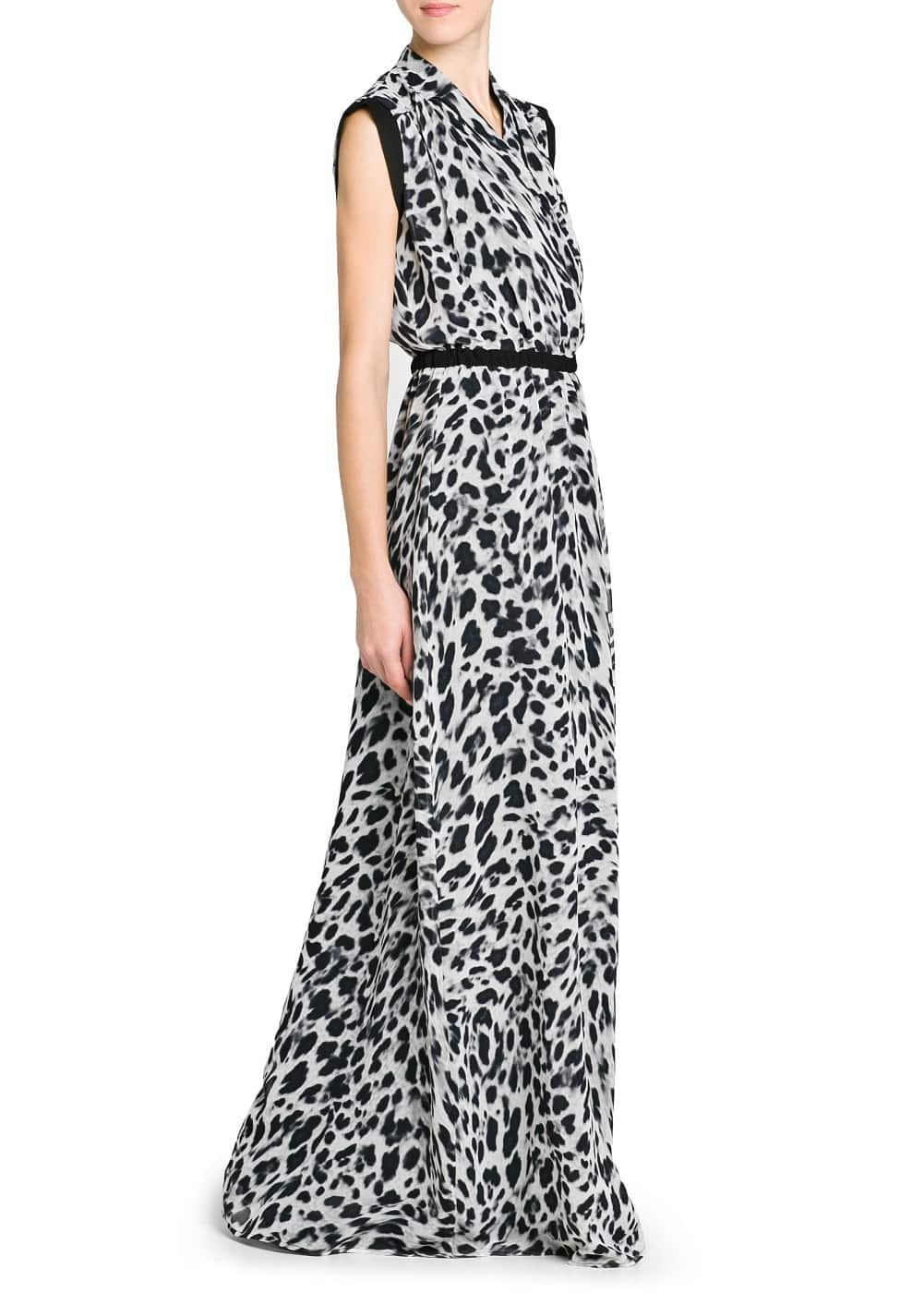Leopard print long dress | MANGO