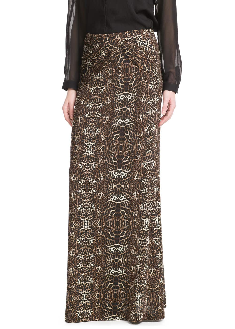 Leopard long skirt | MANGO