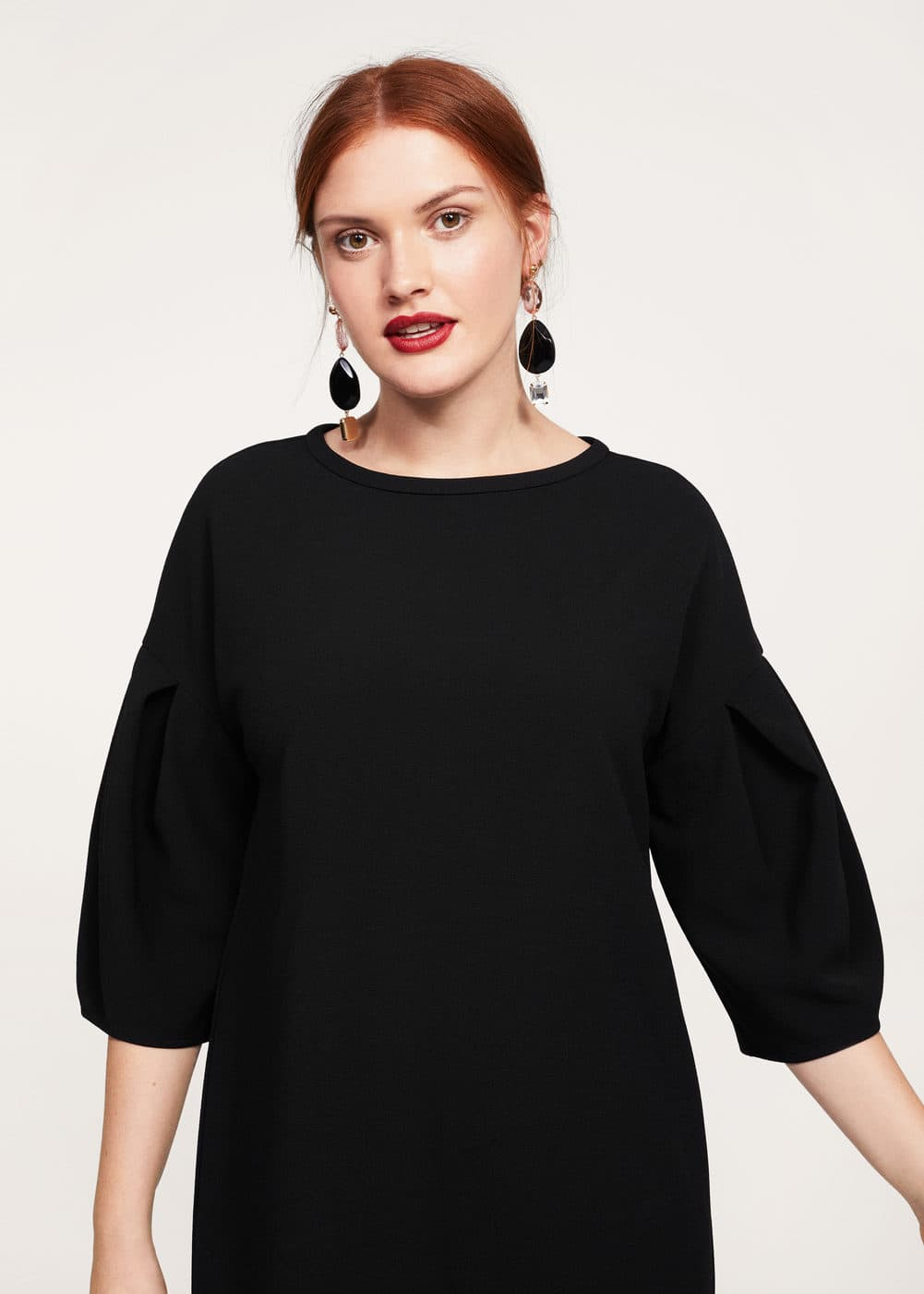 Puffed sleeves dress | VIOLETA BY MANGO