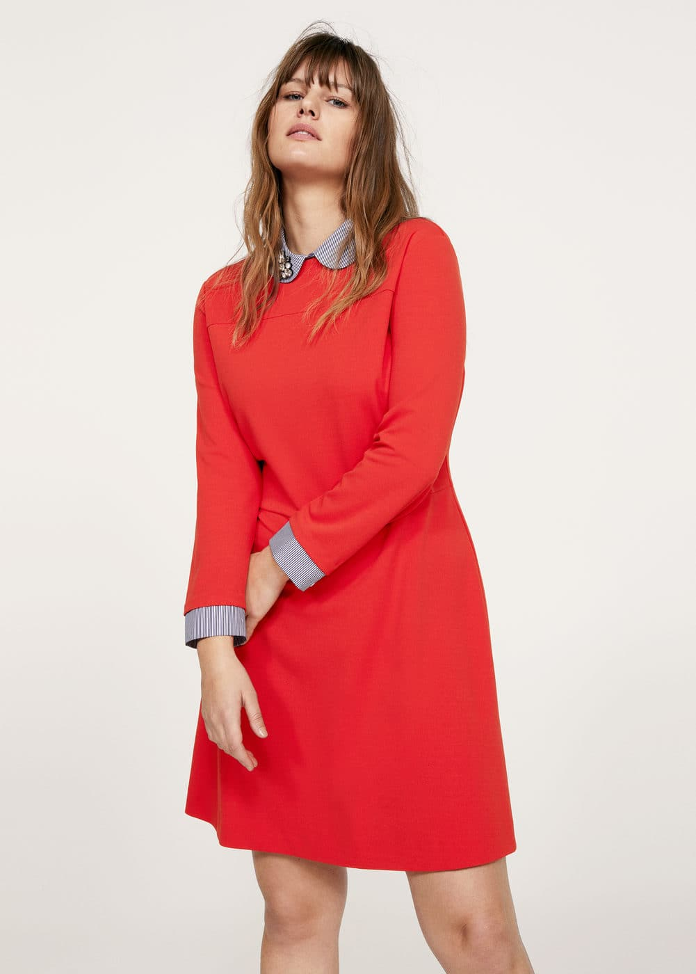 Contrasting design dress | VIOLETA BY MANGO