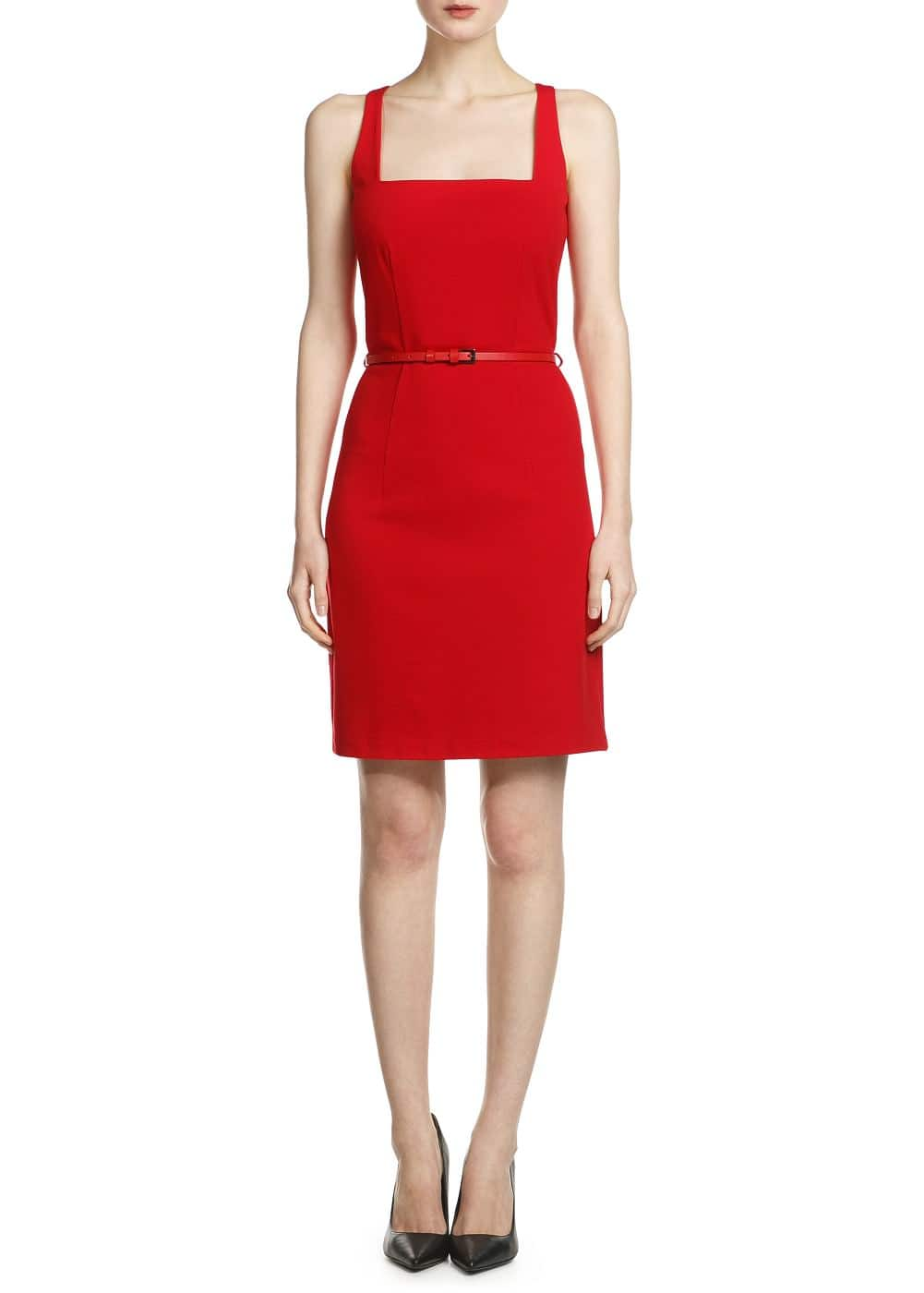 Square neckline dress | MANGO