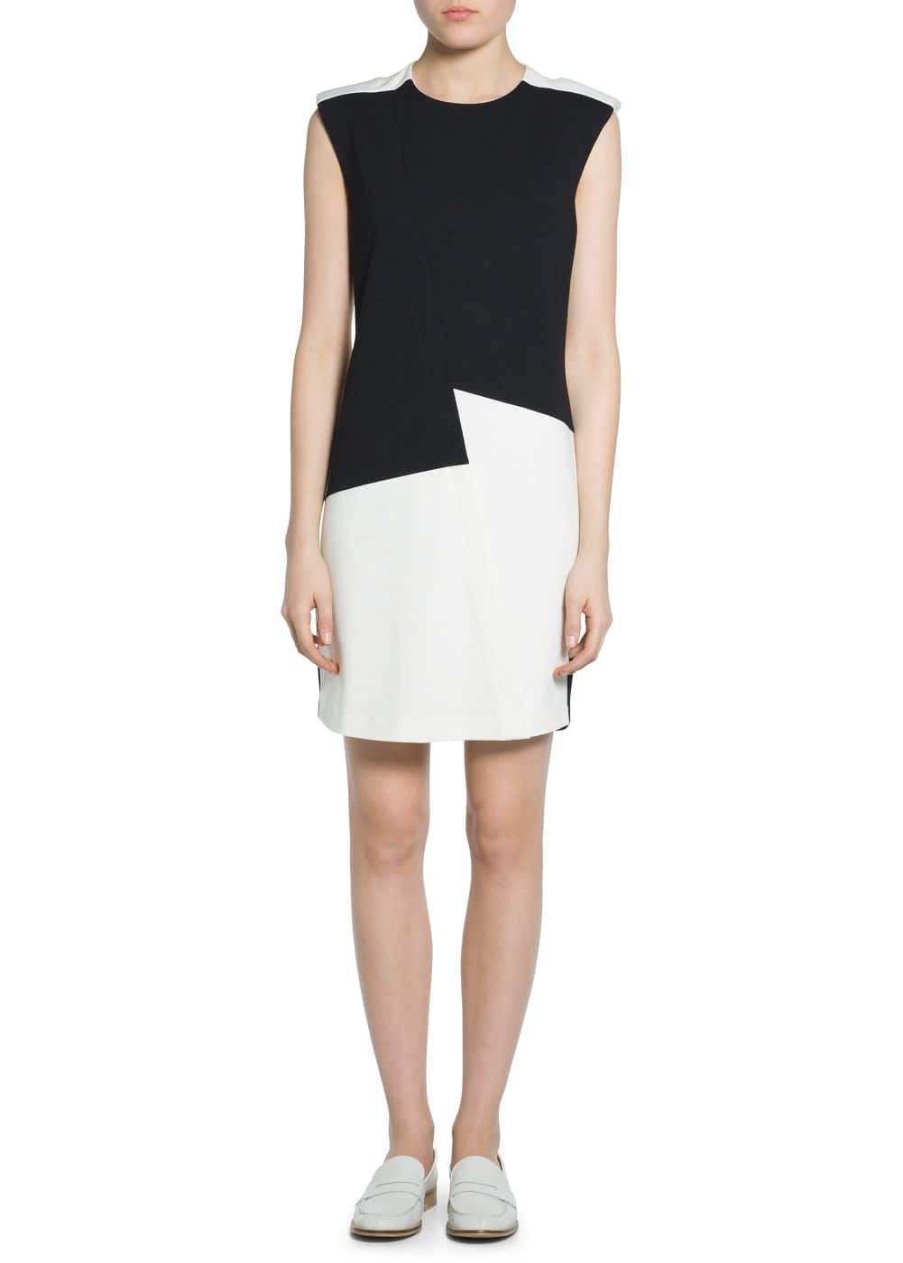 Monochrome ponte dress | MANGO