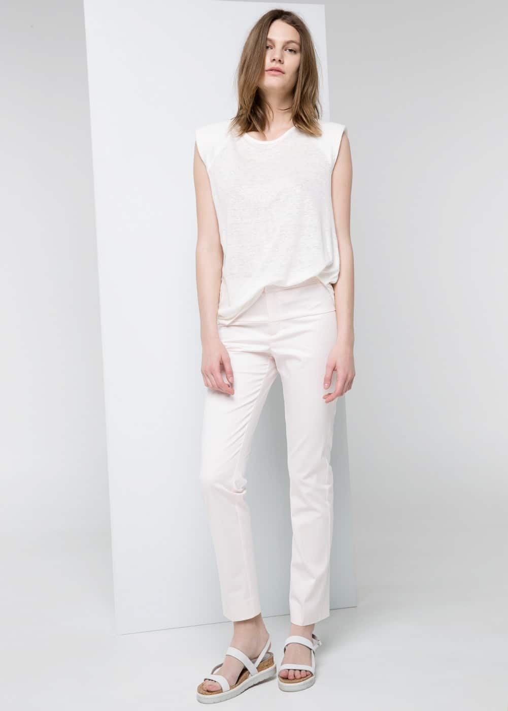 Stretch cotton trousers | MANGO