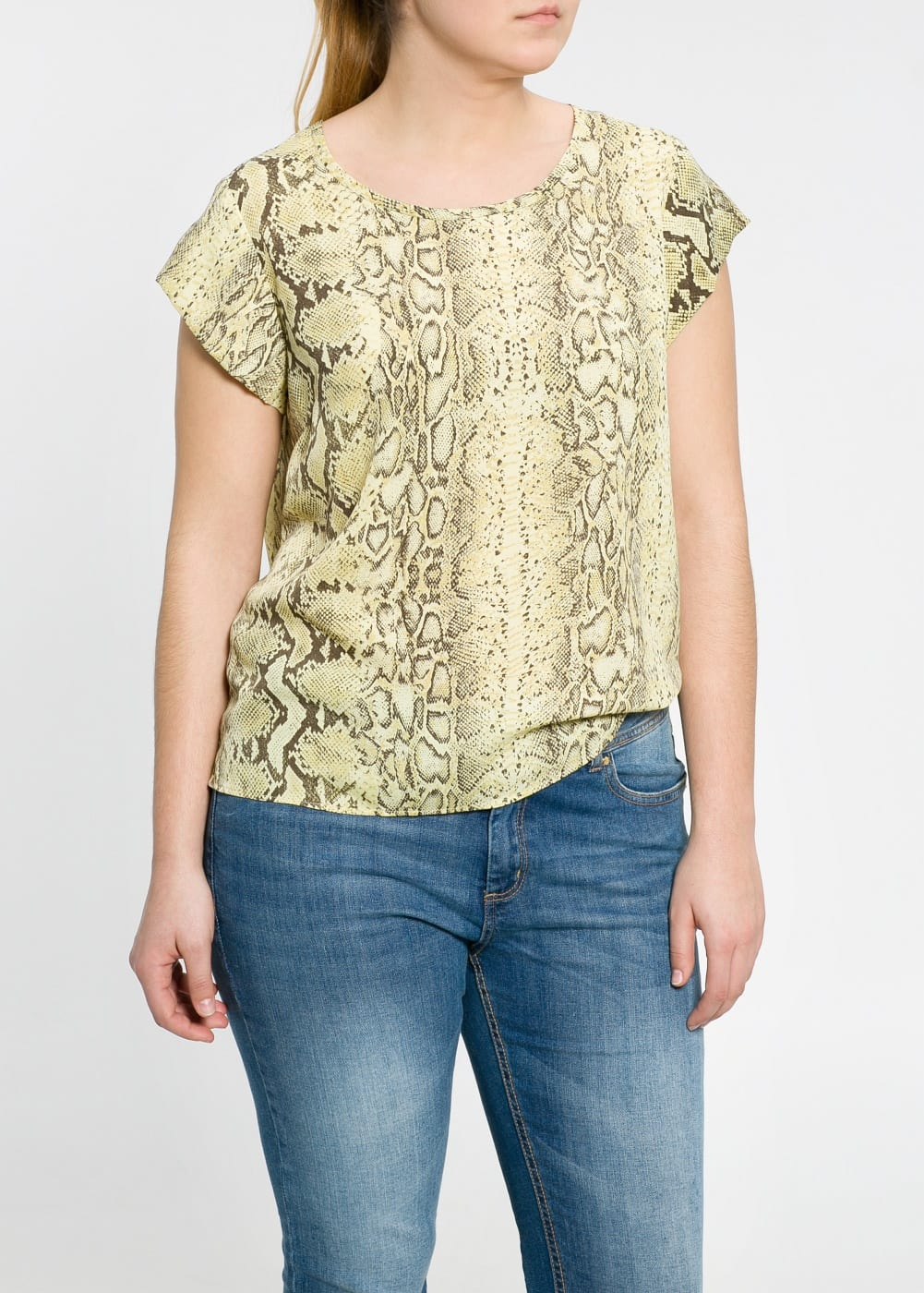 Blusa estampado serpiente | VIOLETA BY MANGO
