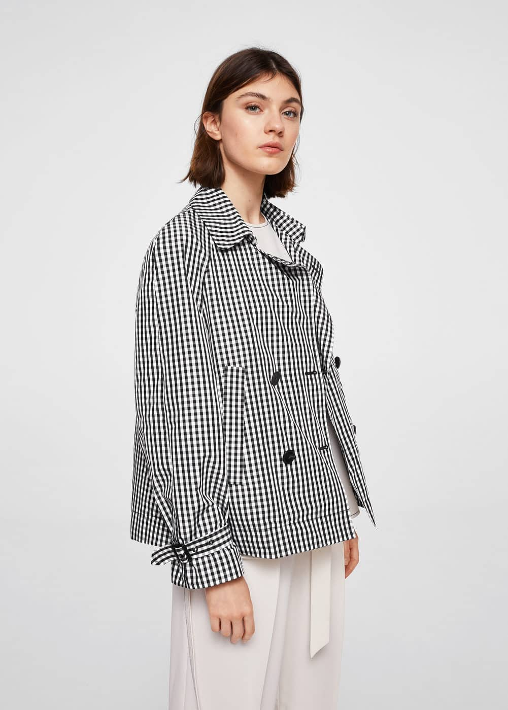 Double-breasted check jacket | MANGO