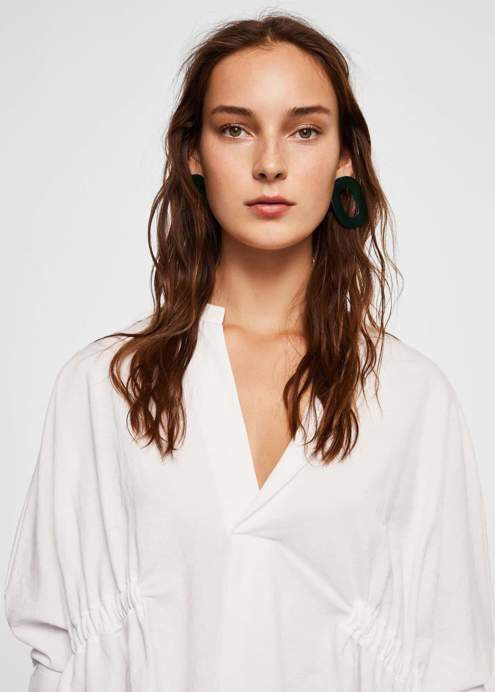 Ruched detail shirt | MNG