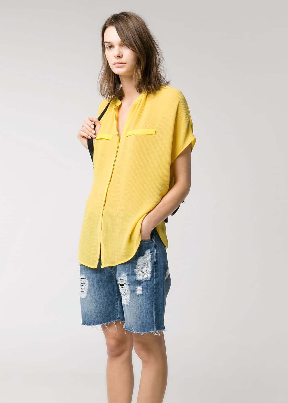 Textured shirt | MANGO