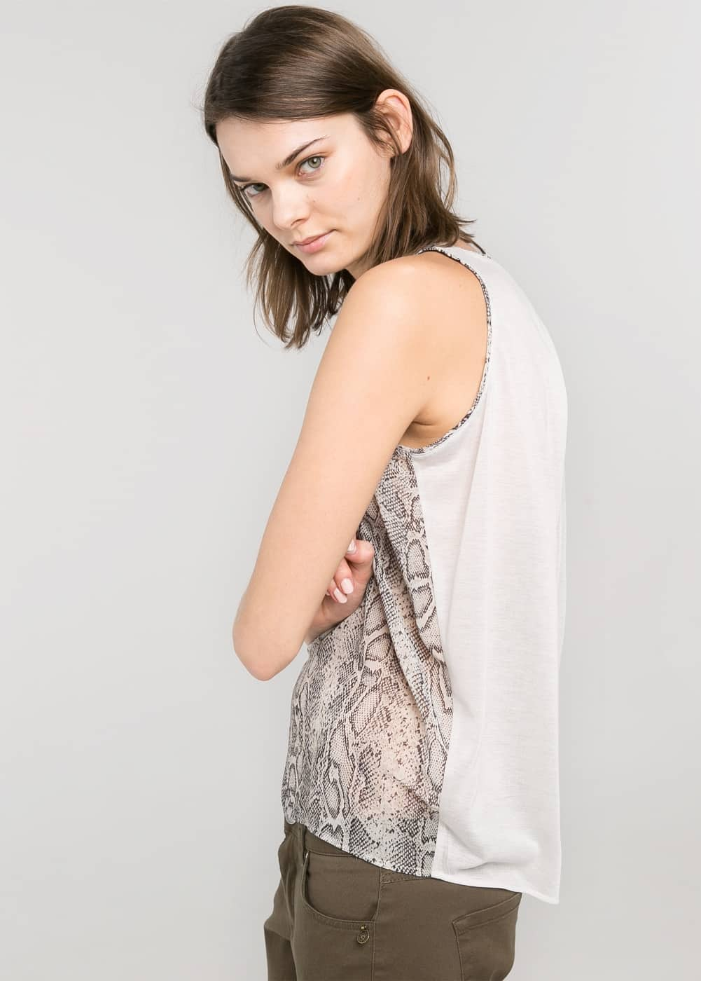 Contrast back top | MANGO