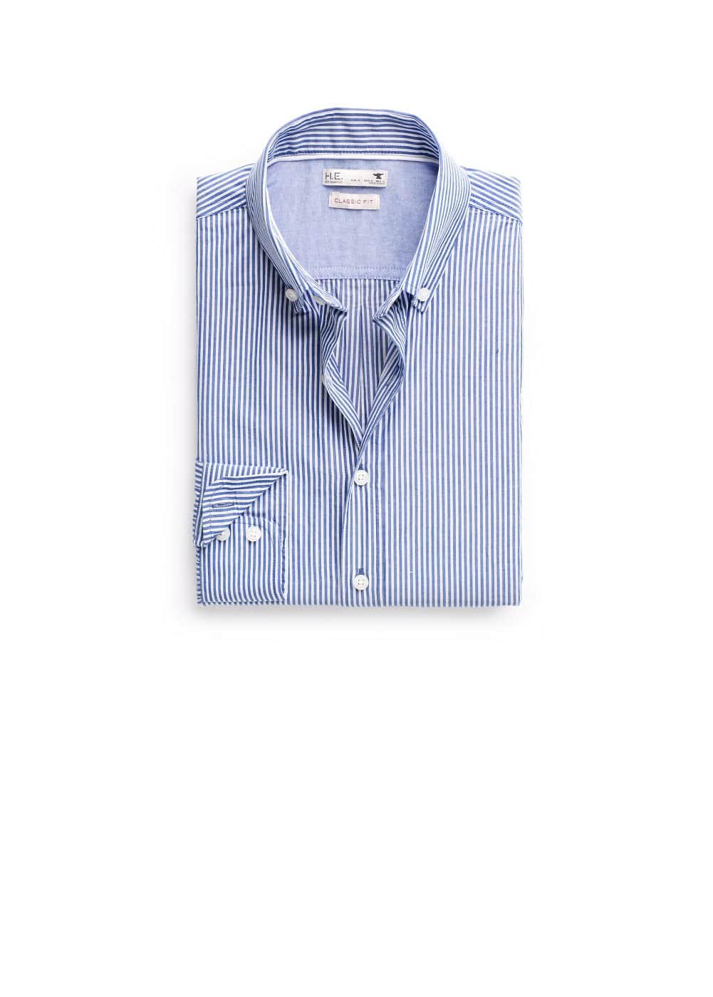 Classic-fit striped shirt | MANGO MAN