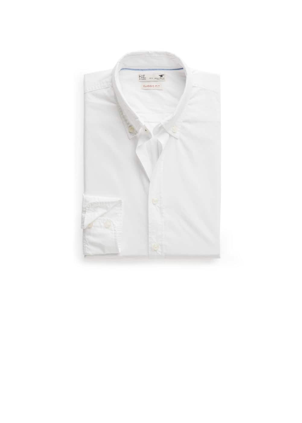 Classic-fit cotton shirt | MANGO MAN