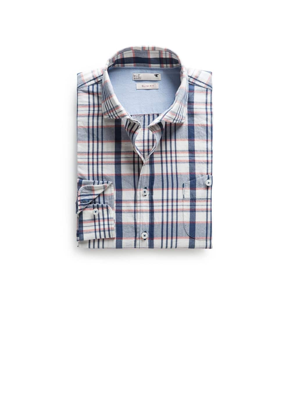 Slim-fit check shirt | MANGO