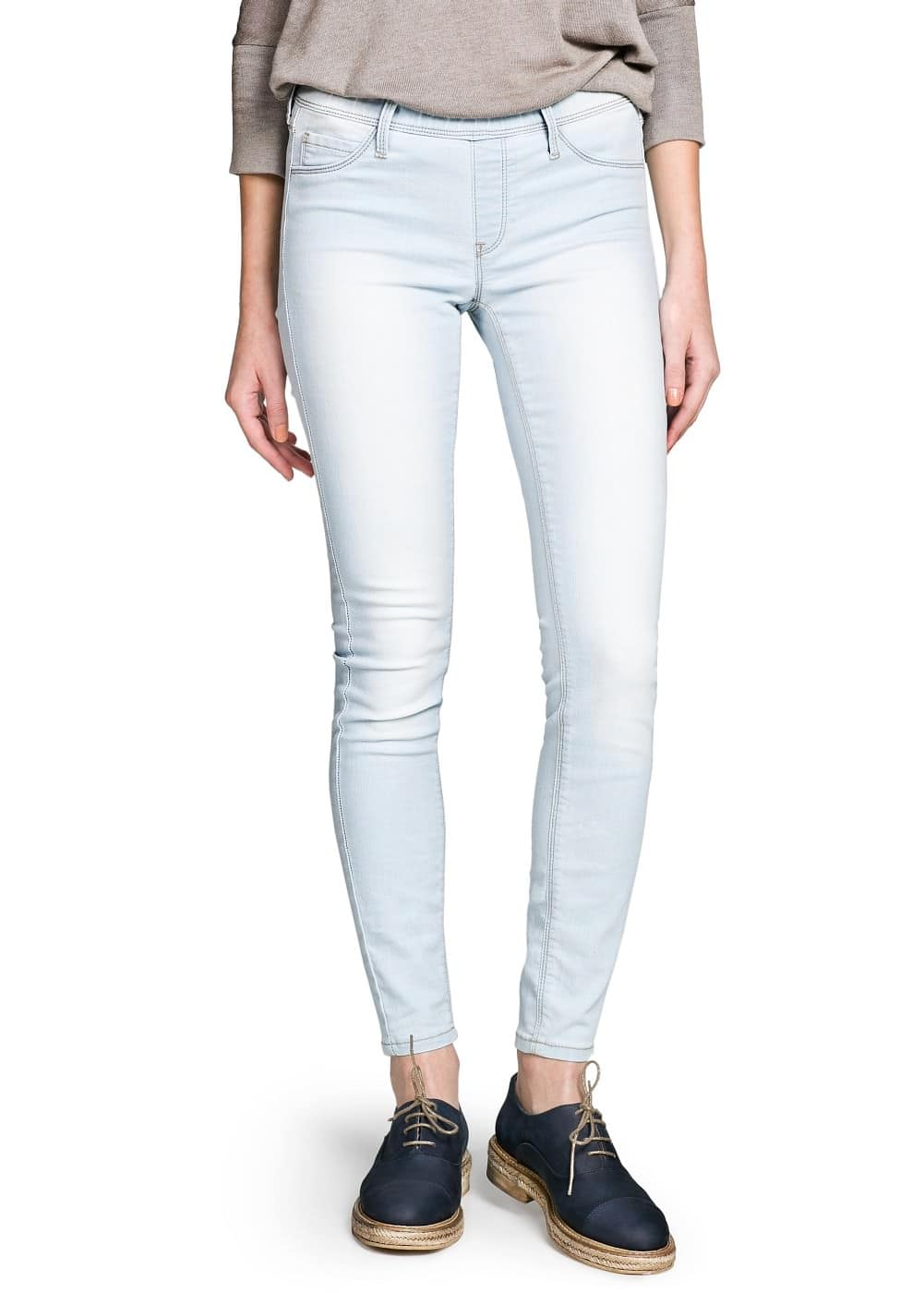 Bleached wash jeggings | MANGO