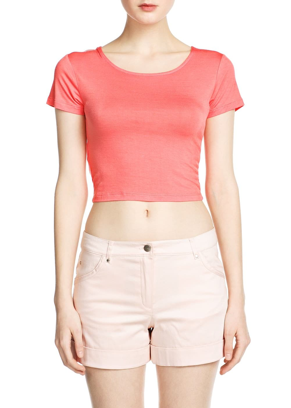 Cropped t-shirt | MANGO