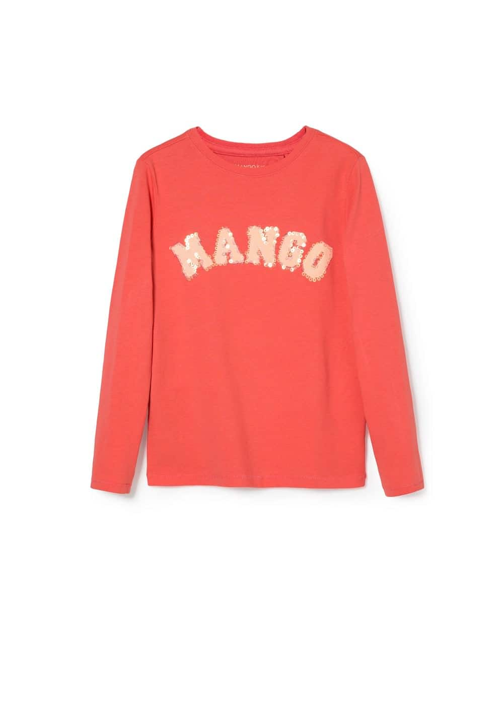 Sequin logo t-shirt | MANGO KIDS