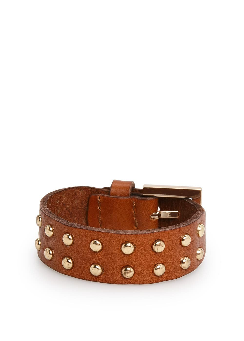 Studded leather cuff | MANGO MAN