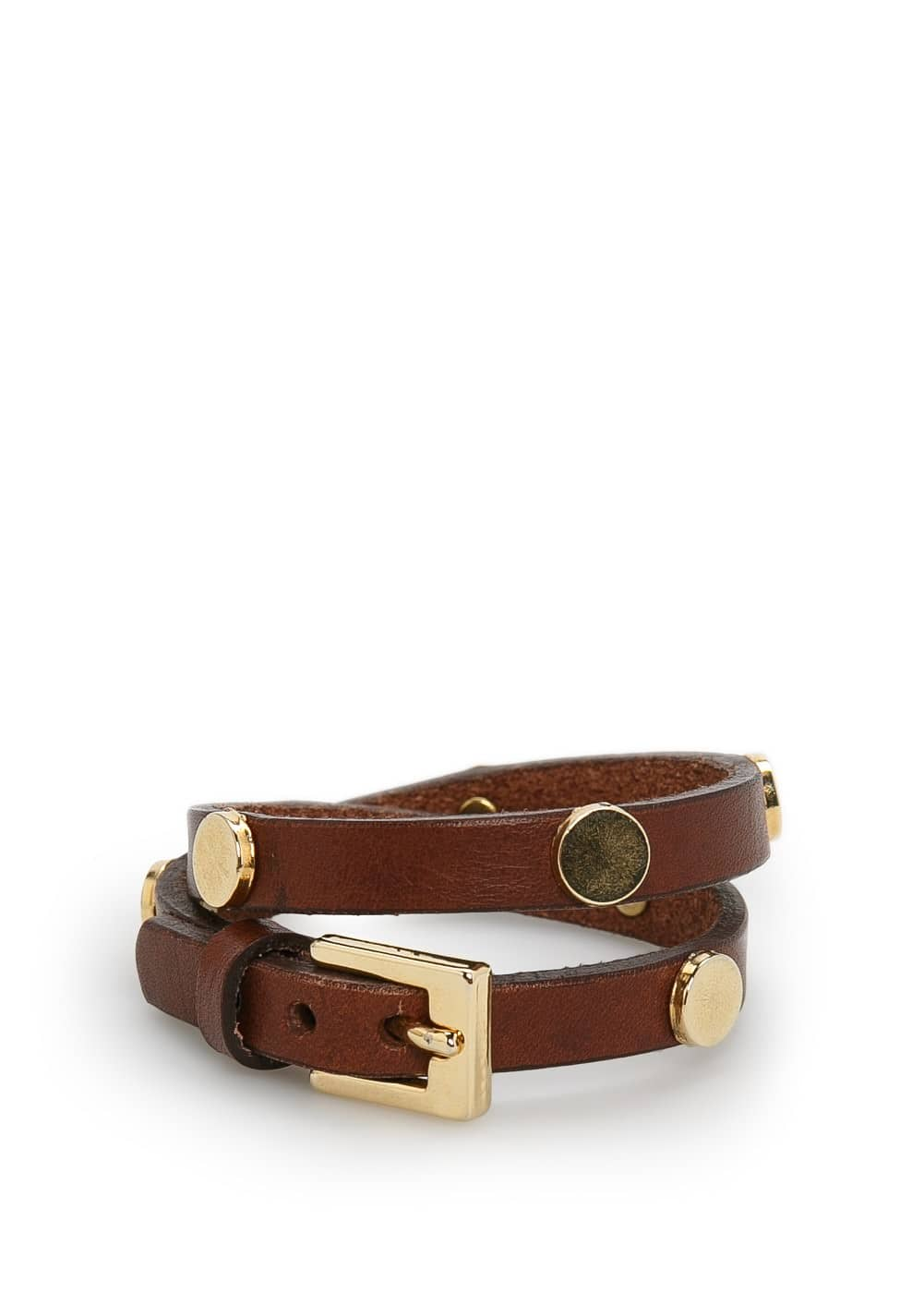Appliqué leather bracelet | VIOLETA BY MANGO